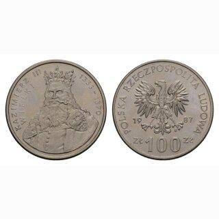 Polen 100 Zloty 1987 Kazimierz III