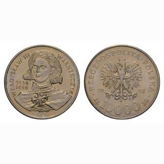 Polen 10000 Zloty 1992 Wladyslaw III