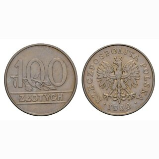 Polen 100 Zloty 1990