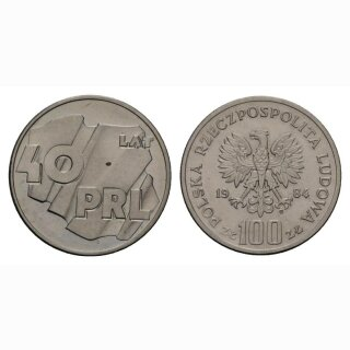 Polen 100 Zloty 1984 40 Jahre Republik