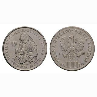 Polen 100 Zloty 1985 Spital