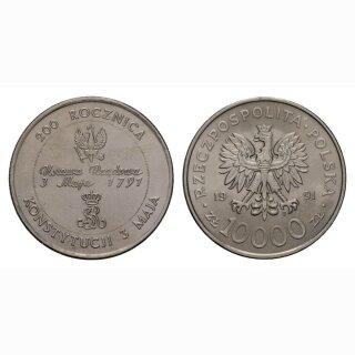Polen 10000 Zloty 1991 200 Jahre Ponische Constitution