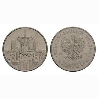 Polen 10000 Zloty 1990 Solodarität