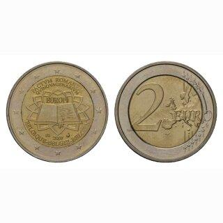 Belgien 2 Euro 2007 Römische Verträge Gedenkmünze BI