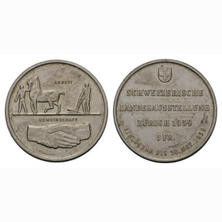 5 Franken 1939 Landi vz-unz