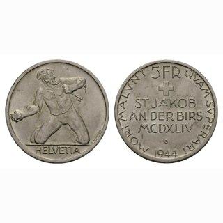 5 Franken 1944 St. Jakob -unz