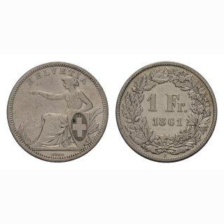 1 Franken 1861 -ss