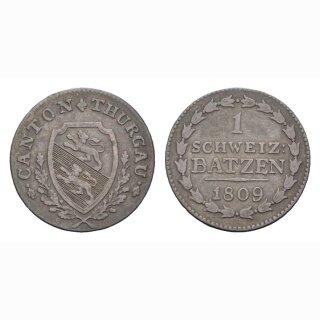 Thurgau 1 Batzen 1809 HMZ 2-934b