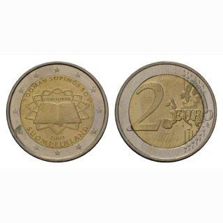 Finnland 2 Euro 2007 Römische Verträge Gedenkmünze BI