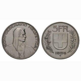 5 Franken 1926 B Schweiz