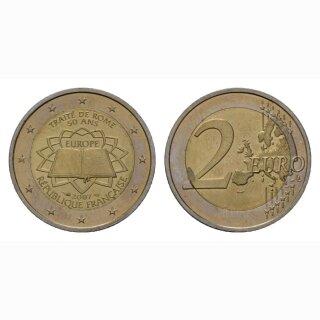 Frankreich 2 Euro 2007 Römische Verträge Gedenkmünze BI