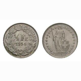 1/2 Franken 1934
