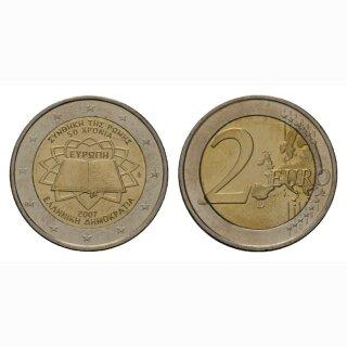 Griechenland 2 Euro 2007 Römische Verträge Gedenkmünze BI