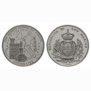 San Marino 10000 Lire 1996 Karte und Parlamentgebäude (EURO)