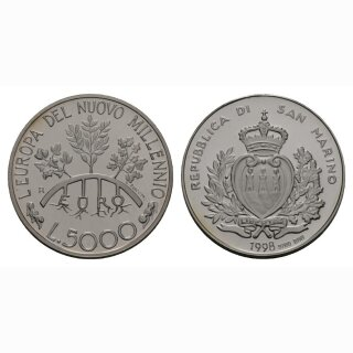 San Marino 5000 Lire 1998 Eurobrücke