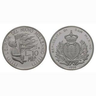 San Marino 10000 Lire  1998 Kind mit Flaggen
