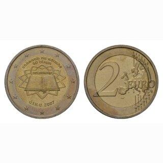 Irland 2 Euro 2007 Römische Verträge Gedenkmünze BI