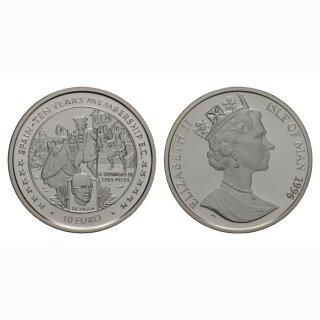 Isle of Man 10 Euro  1996 Spanien 10 Jahre Member