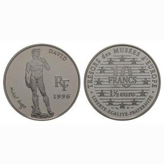 Frankreich  10 Francs/ 1.5 Euro 1996 David by Michelangelo