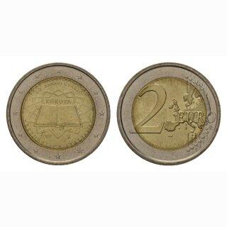 Italien 2 Euro 2007 Römische Verträge Gedenkmünze BI