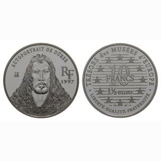 Frankreich  10 Francs/ 1.5 Euro 1997 Durrers Selbstporträt