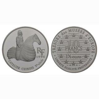 Frankreich  10 Francs/ 1.5 Euro 1997 Chinesischer Reiter