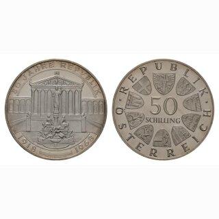Oesterreich 50 Schilling 1968 50 Jahre Republik