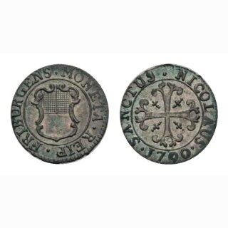 Freiburg Vierer 1790 Kantonsmünze