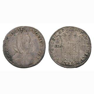 Neuenburg 20 Kreuzer 1695 Kantonsmünze