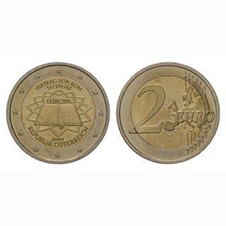 Österreich 2 Euro 2007 Römische Verträge Gedenkmünze BI
