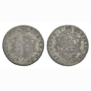 Wallis 12 Kreuzer 1777 Kantonsmünze