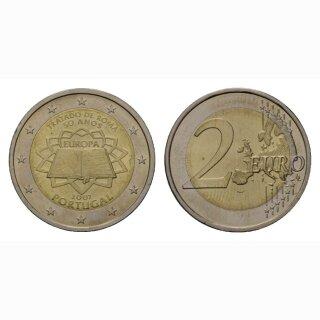 Portugal 2 Euro 2007 Römische Verträge Gedenkmünze BI