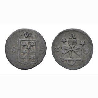Wallis Vierer  1685 Kantonsmünze