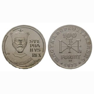 Ungarn 100 Forint 1972 1000. Jahre St. Stephan