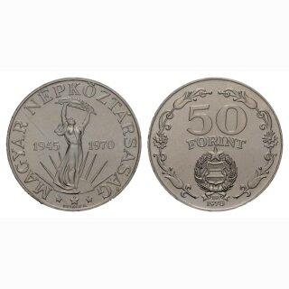 Ungarn 50 Forint 1972 25 Jahre Befreiung