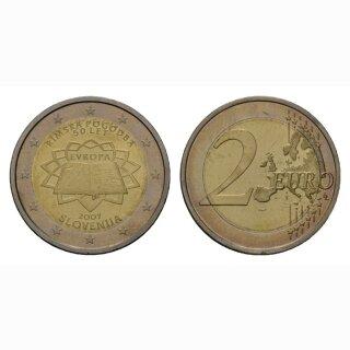 Slowenien 2 Euro 2007 Römische Verträge Gedenkmünze BI