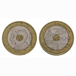Frankreich 20 Francs 1994 Pierre de Coubertin