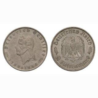 Deutschland 2 Reichsmark 1934 F Friedrich Schiller