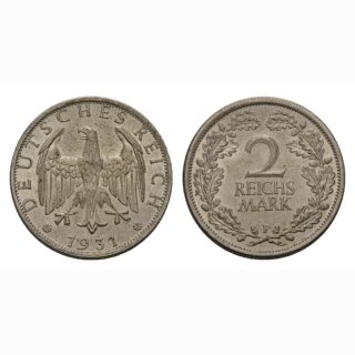 Deutschland 2 Reichsmark 1931 F Weimarer Republik