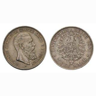 Preussen (DE)  2 Mark 1888 A Kaiser, König Friedrich III