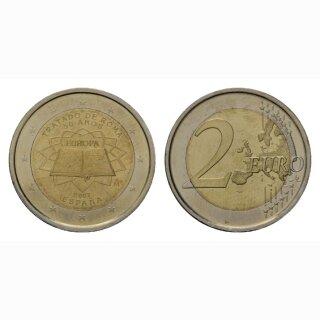 Spanien 2 Euro 2007 Römische Verträge Gedenkmünze BI