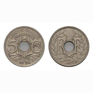Frankreich 5 Centimes 1934