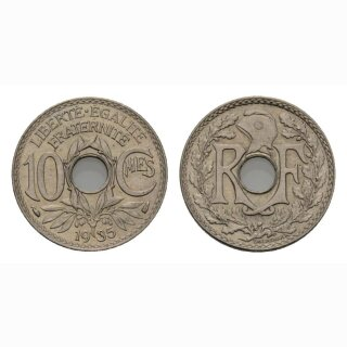 Frankreich 10 Centimes 1935