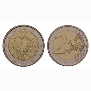 Finnland 2 Euro 2008 60 Jahre Menschenrechte Gedenkmünze BILD