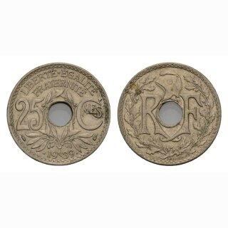 Frankreich 25 Centimes 1939