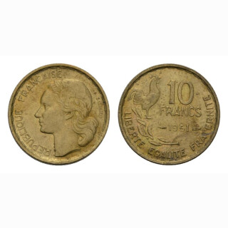 Frankreich 10 Francs 1951