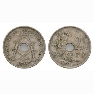 Belgien 25 Centimes 1922