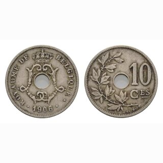 Belgien 10 Centimes 1906