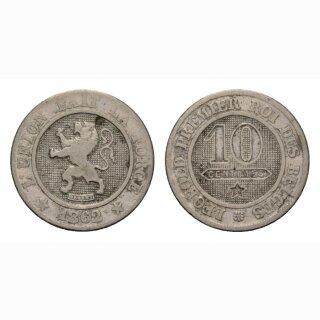 Belgien 10 Centimes 1862 Leopold I