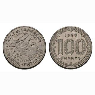 Kamerun 100 Francs 1966 Drei Tiere